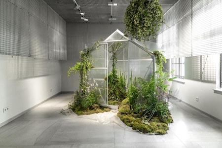 floral installation plant installation gate store berlin